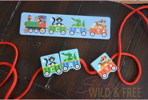 Melissa & Doug Alphabet Lacing Train