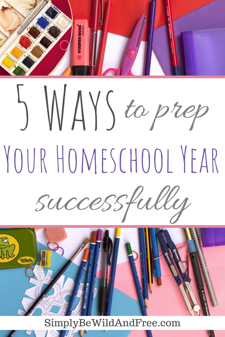 Setting up your new homeschool year or semester? Find all the best tips, tricks, and hacks for prepping your year like a pro. Pick your curriculum, make your plan, set goals, and get organized with these 5 simple steps! Also, get your free printable pacing guide and schedules to help you stay on task and get a smooth rhythm or routine going with your homeschoolers. Learn how to homeschool with success this year! #homeschool #kids #organize  #freeprintable #backtoschool