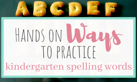 Hands on Ways to Practice Kindergarten Spelling Words