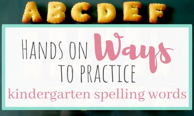 Hands on Ways to Practice Kindergarten Spelling Words