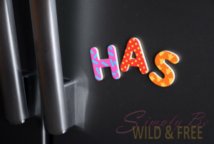 Magnetic Letters work amazing on a Fridge