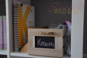 Cubby Organization with Math Curriculum and Aides