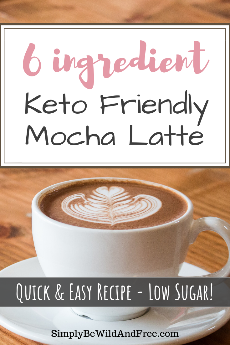 Easy DIY homemade mocha latte for the health conscious homeschool mom! Learn how to skip over priced, sugary drinks that are filled with artificial ingredients and extra additives by making your very own keto friendly power mocha latte coffee at home! Add healthy fats to your daily diet during your morning coffee routine with this simple recipe! #coffee #latte #health #keto #recipe #homeschoolmom #DIY #healthy