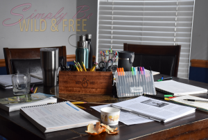 Cleaning up each day is important to maintain an organized homeschool space