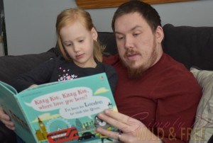 Daddy Daughter Reading time is great for weekend family relaxation