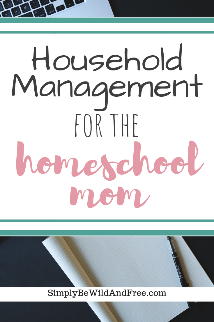 Household management can be the most difficult thing for a homeschool mom to get a handle one. If you are struggling with getting it all done, these 7 simple tips and hacks will help today! Learn how to ditch the stress and keep up with the mess! Homeschooling doesn\'t have to be hard on the house. Learn how to fit quiet time, looping, and other fun activities into your day with out feeling overwhelmed or stressed out! #homeschool #mom #stress #home #homeschooling