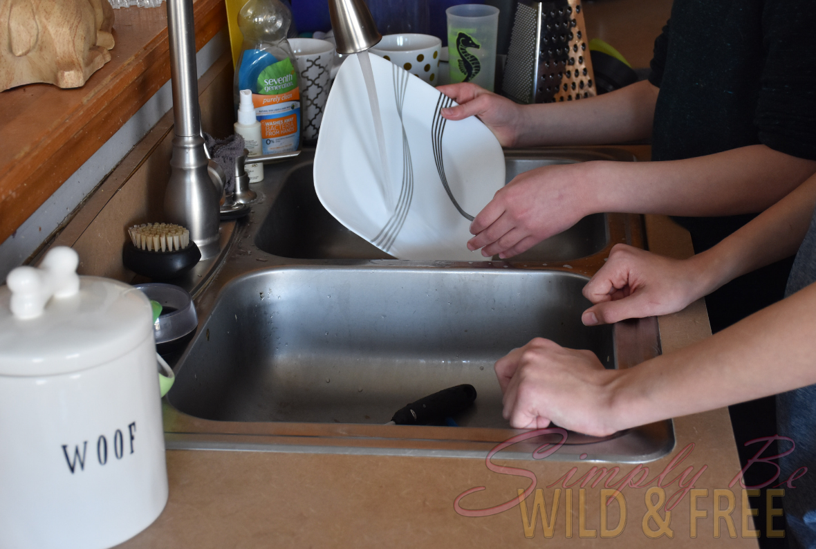 Make the Kids Help out with Daily Chores like Dishes