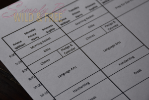 Scheduling Chores in your daily homeschool routine