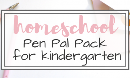 Homeschool Pen Pal Pack for Kindergarten