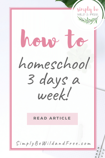 How to Homeschool. This incredibly easy 3 day school schedule will completely overhaul your homeschool! If you are overwhelmed or stressed with trying to fit it all in, read this now! Help your kids find their love and passion for learning and reading again, simply by introducing a 3 day school week. Learning really does happen anywhere and everywhere when you homeschool, so skip the stress and do less! #homeschool #schedule #learning #school #children #homeschooling #kids