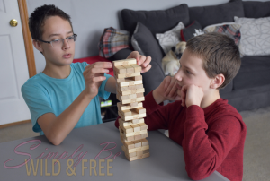 Kids love to play games during homeschool looping time