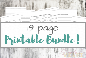 19 Page Printable Bundle