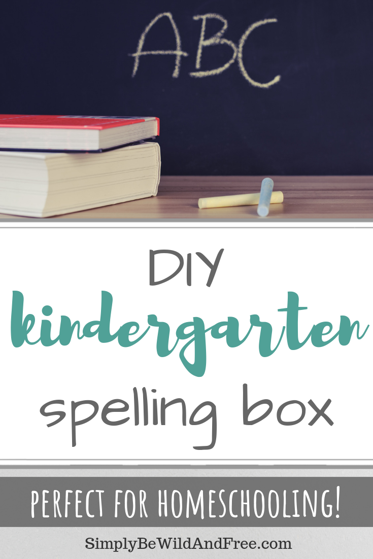 Homeschooling a kindergartner or first grader? Have a child that struggles with spelling? Learn how to create the best spelling box, get tips and tricks on how to make learning fun again! Teach kindergarten spelling words in a unique and personal way using the kindergarten spelling box created here! This DIY project is complete with a tutorial video, photos, and a break down of the box itself. Make homeschooling fun! #homeschool #kindergarten #spellingbox #learn #fun