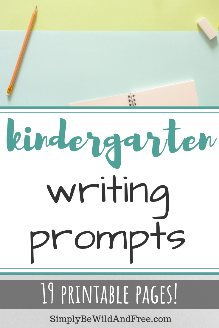 19 pages of simple writing prompts for your kindergartner or first grader! Teach your young homeschool child to love the writing process though these simple character building prompts! This printable pack is great for 5-7 year olds. These work great as an extra activity, for morning basket time, homeschool looping or as a part of your daily language arts to practice handwriting and spelling! #printable #worksheets #homeschool #kindergarten #firstgrade
