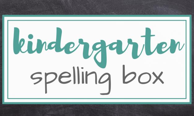 The Kindergarten Spelling Box