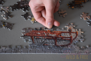 Puzzles are a great activity for family time and older homeschoolers