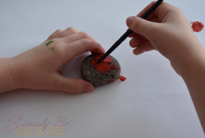 Simple but fun rock painting craft for kids