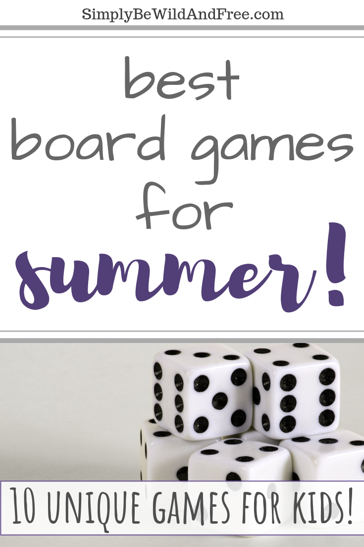 Find the most amazing board games that will keep your kids from being bored this summer! Games are the best indoor activity for summertime. These games are the perfect option for rainy days, spring break, summer break and super hot days when the kids can\'t play outside. Top 10 games to keep your kids entertained all year long. #games #fun #activities #kids #learn #play #teams #cardgames #happy #summer #noschool #bored