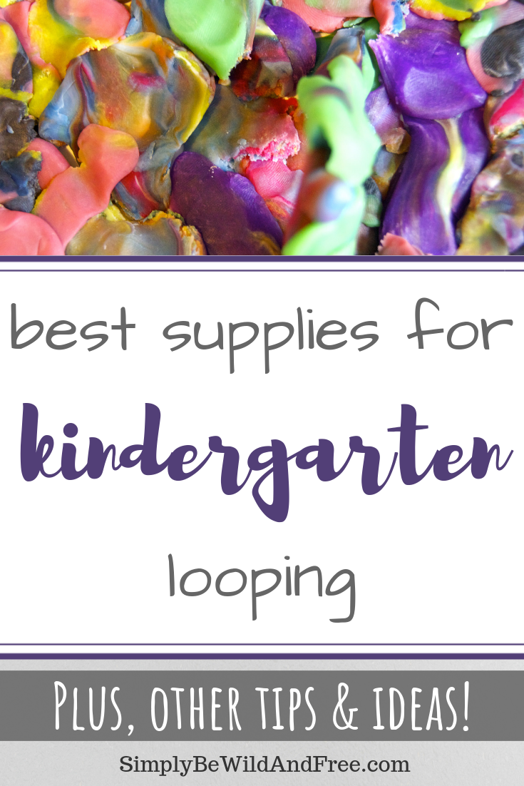 Learn how to keep your kindergartner engaged through your homeschool looping or quiet time. Find all the best kindergarten supplies and ideas for homeschool looping right here! Create a plan that works for your young homeschooler, get the supplies that work, and keep them engaged for long periods of time, allowing mom to de-stress and accomplish things! Homeschool schedules and ideas that work! #homeschool #kindergarten #looping #schedule #supplies #activities