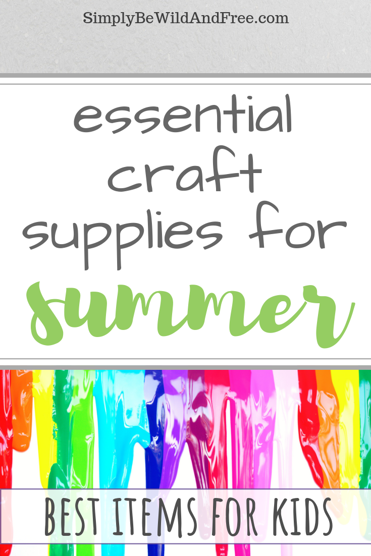 Top 10 craft items for creating crafts with your kids this summer. These supplies will make creative kid crafting so much easier and fun! So many fun craft supplies and crafts for kids ideas! Find out what every mom needs to make Crafting more fun this summer.  #paint #craft #kids #summer #activities #fun #create  #summer #activities