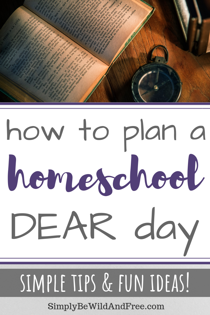 Learn how to plan the perfect DEAR day for your homeschool! DEAR day is a national holiday that is celebrated in schools across the country every year on April 12th! Find out why your homeschool needs to drop every thing and read! DEAR day ideas, tips, and hacks for preschool, kindergarten and all other homeschool aged kids! Simple and fun reading activities for your children! #homeschool #DEARday #books #reading #homeschooling