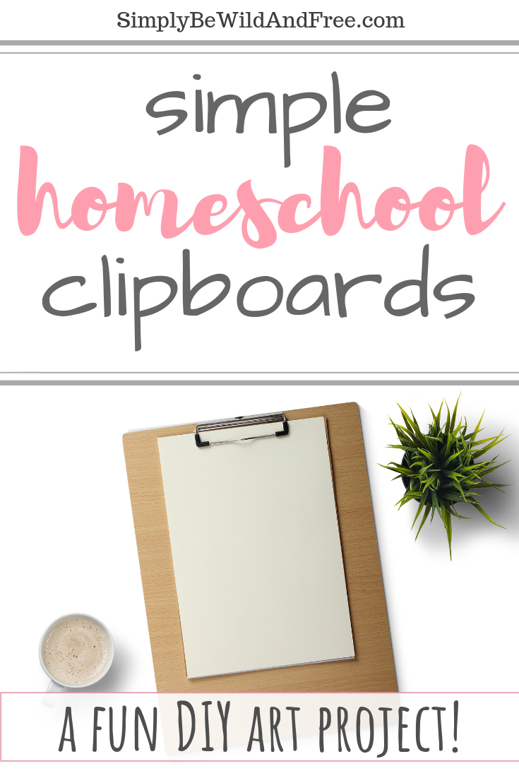 Clipboards rock for homeschooling on the go! Check out how your kids can create a simple and personalized DIY clipboard in no time! Learn how clipboards can make homeschooling even easier! #diy #homeschool #art #togo #learn #draw #kids #crafty #fun #onthego #inthecar #athome