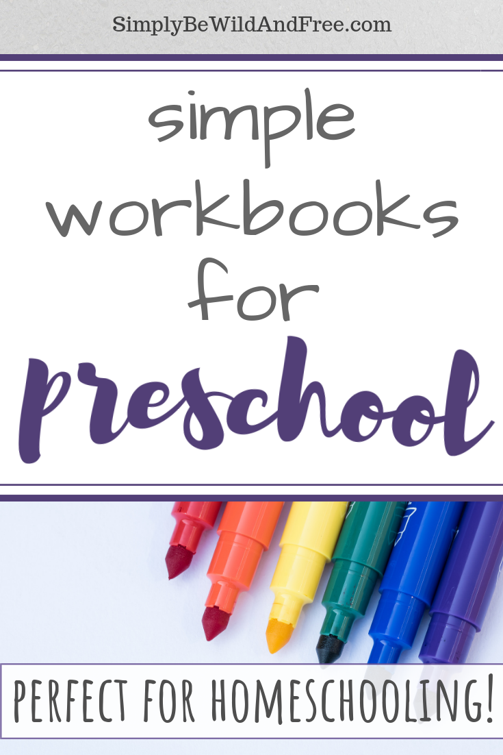 Homeschool preschool with ease! Struggling to keep your preschooler busy while homeschooling multiple children? Learn how to utilize simple preschool workbooks during your homeschool day by fitting them into your homeschool routine! From simple morning basket ideas to other ways to keep toddlers and preschoolers busy while homeschooling. #homeschool #preschool #homeschoolideas