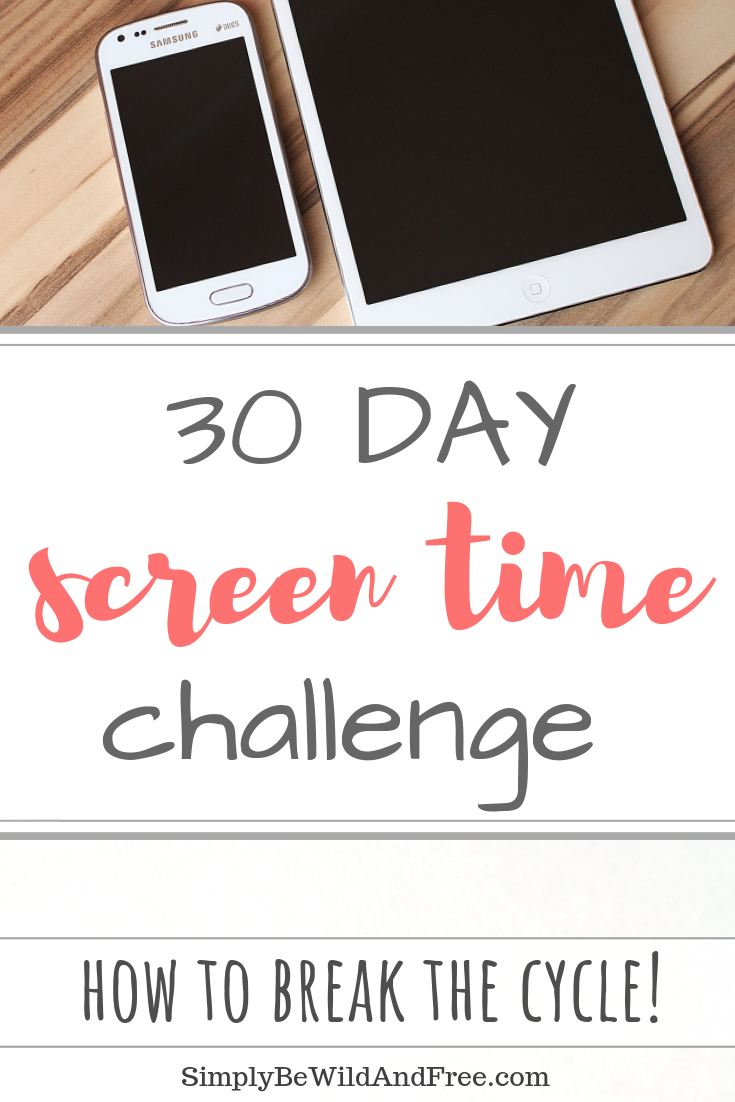 Take the 30 day screen time challenge to break the cycle of screen dependence and technology addiction! These simple steps will guide you through a month of simple inspirational activities that  allow you to spend more quality time with your family, children and other loved ones that matter most. 30 simple steps to recovery and a better life! Simple screen free challenge for mom or dad! #technology #addiction #screentime #challenge