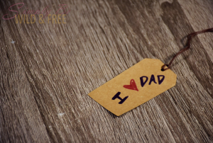 Father's Day Homemade Gift Tag I Love Dad