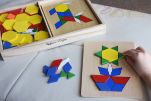 Tangrams by Melissa & Doug encourage critical thinking and building fine motor skills