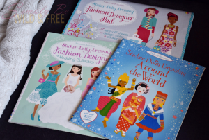 Usborne Sticker Dolly Dressing books encourages creativity without any mess