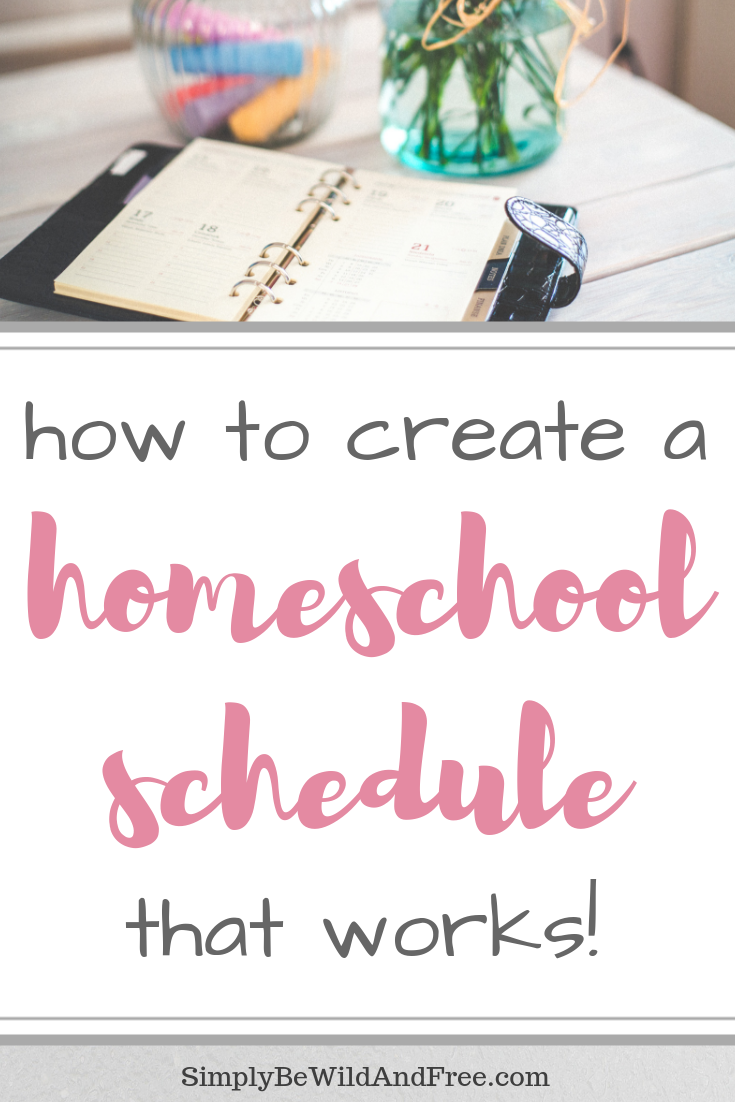 Simple homeschool schedule for the mom that struggles with keeping routine and hasn\'t\' found something that works! Learn how to homeschool easy with these simple tips and ideas for creating your very own homeschool schedule! Find out if a 3 day school week might work for your homeschool, plus get a free printable homeschool schedule! Best homeschool resources for homeschool moms, including tips on the homeschool binder system! #homeschool #schedule