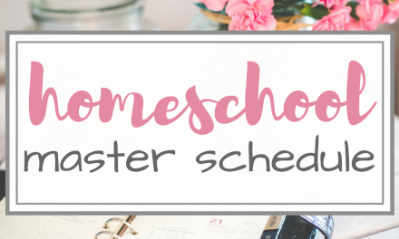 Mom's Master Homeschool Schedule