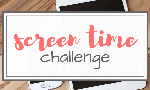 30 Day Screen Time Challenge
