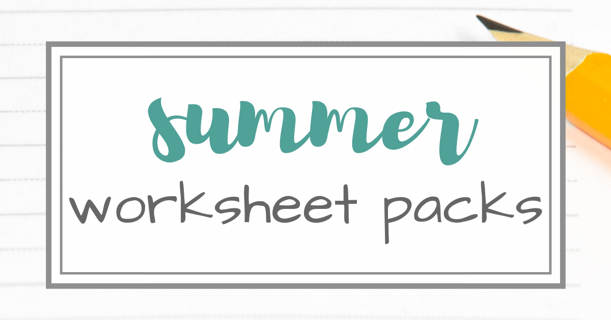 Simple Summer Worksheet Packs