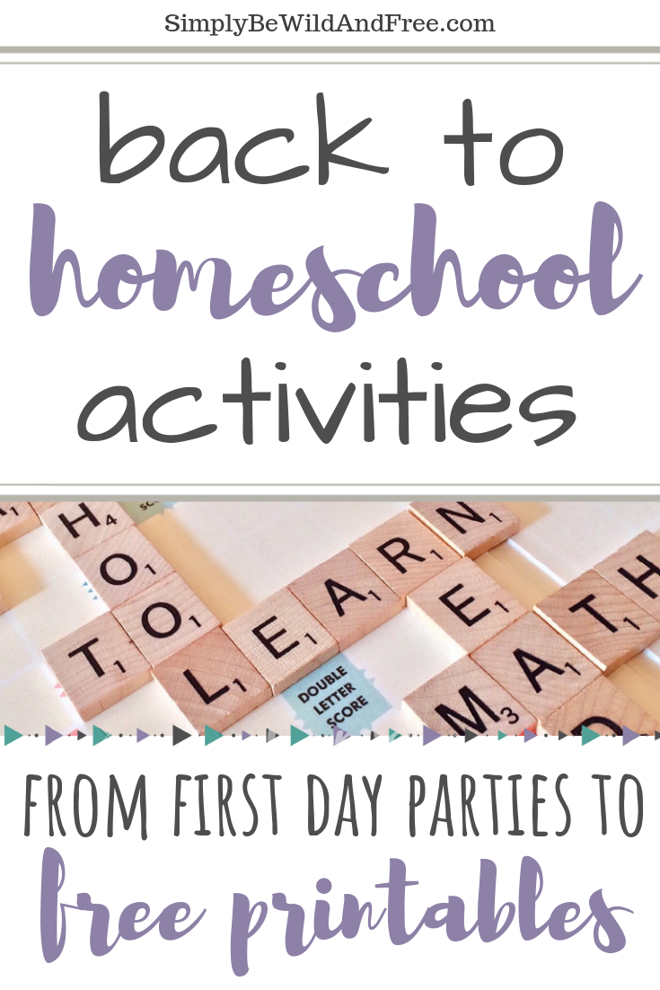 Looking for new ways to get your kids excited about the first day back to homeschool? Check out these 7 Fun ways to celebrate the new school year - HOMESCHOOL style. Simple back to school activities for kids! Back to school. Back to homeschool. Homeschool activities for kids. First day of school activities for homeschoolers. Back to school ideas. #homeschool #backtoschool #homeschooling