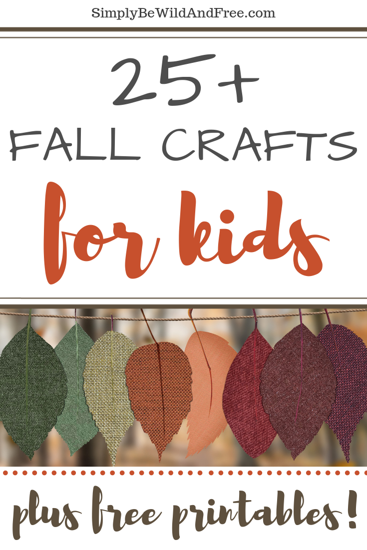 Over 25 fun fall craft ideas for homeschoolers or school class parties! These simple fall crafts for kinds include awesome pumpkin crafts, leaf crafts for kids, a scarecrow craft, easy apple craft, and more!! Get ready for your harvest party and plan simple kid crafts for fall time with ease! Want even more? Many of these fun craft ideas also come with printable templates! #crafts #fall #freeprintable  fall crafts for kids  fall craft ideas