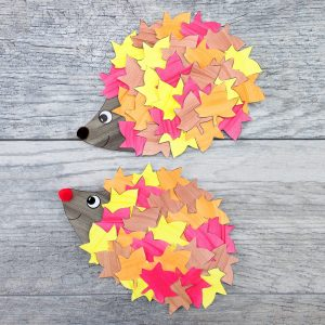 cute hedgehog fall craft