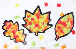 Leaf sun catcher craft