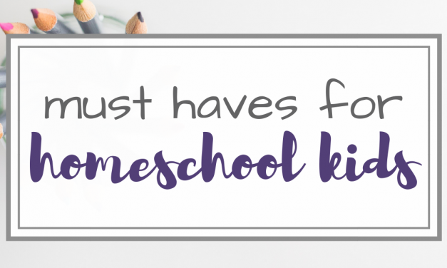4 Must Have Items for Homeschool Kids