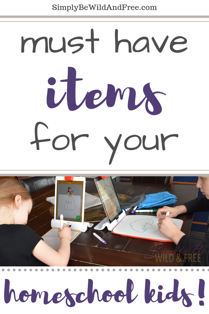 Simple list of must haves for your homeschooler! Not sure how to homeschool the first year? Check out these top must have products for your homeschool. From kids water bottles to simple healthy snacks for kids. Simple tips - homeschooling for beginners! Must have homeschool supplies, kid products, homeschool helps, tips & tricks! #homeschool #homeschooling