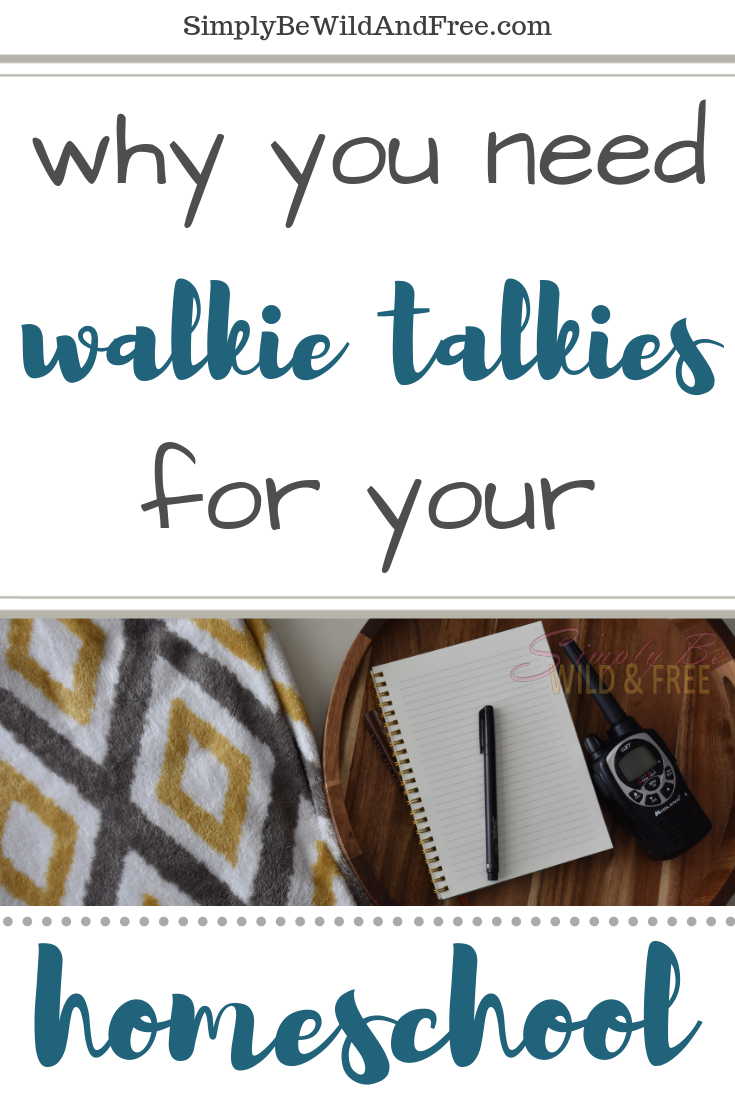 Simple homeschool ideas - using walkie talkies for kids! How to homeschool for beginners with simple easy homeschool tips & tricks. Learn why incorporating walkie talkies into your homeschool supplies list and homeschool routine will help make things go smoother. Homeschool field trip ideas.  Homeschooling multiple ages and tips for middle school! #homeschool #homeschooling