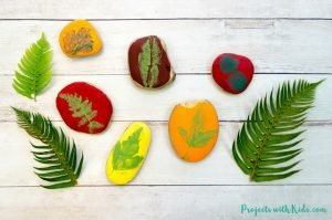 Easy Leaf Printing Fall craft