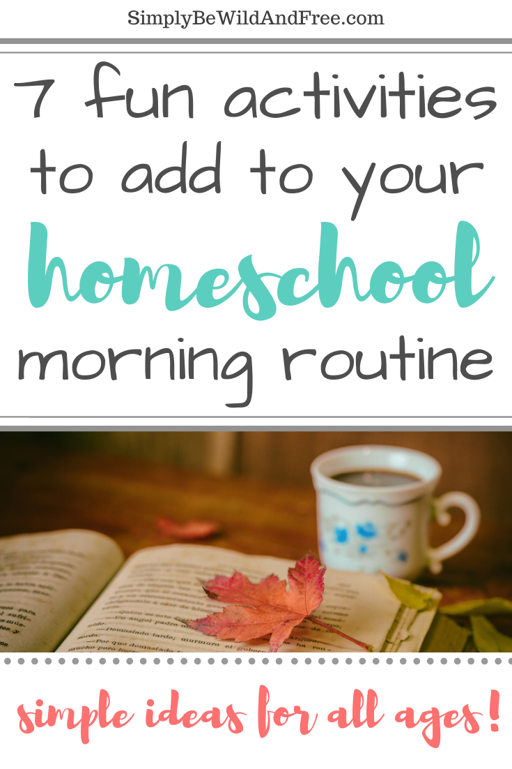 Looking for the perfect homeschool morning routine? Check out some of these simple homeschool activities that you can easily incorporate into your homeschool schedule! Fun homeschool ideas for the busy homeschool mom that wants to do all the things! From hymn studies for homeschoolers, to simple ways kids can practice music, study poetry and art ideas for kids! Morning time is a great time to fit homeschool prayer time in as well! #homeschool #homeschooling #homeschoolideas