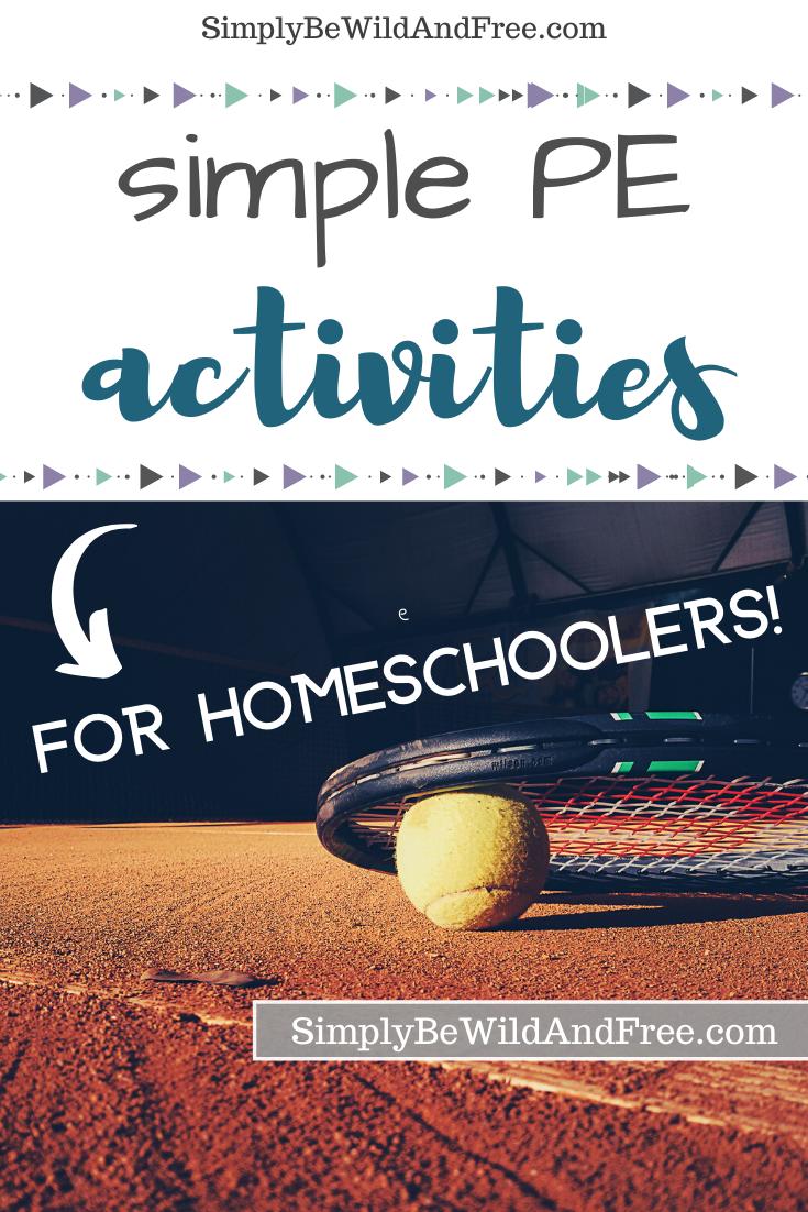 PE Activities for Homeschoolers