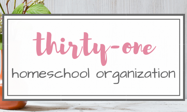 Thirty-One Homeschool Organization Solutions