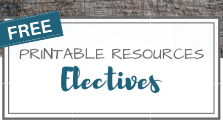 Free Printables – Electives & More