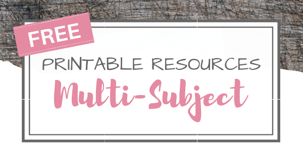 Free Worksheets & Educational Resources
