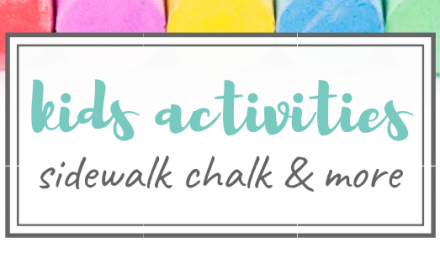 Side Walk Chalk Ideas & Fun Kids Activities