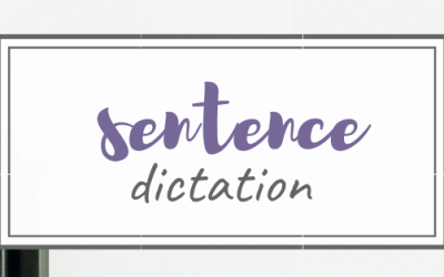 Homeschool Tips – Simple Sentence Dictation